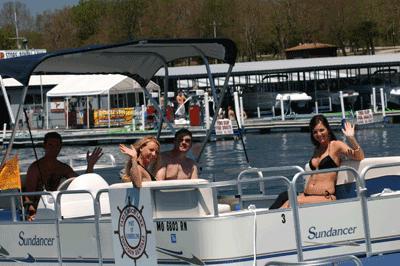 Pontoon boat rentals table rock lake quarry